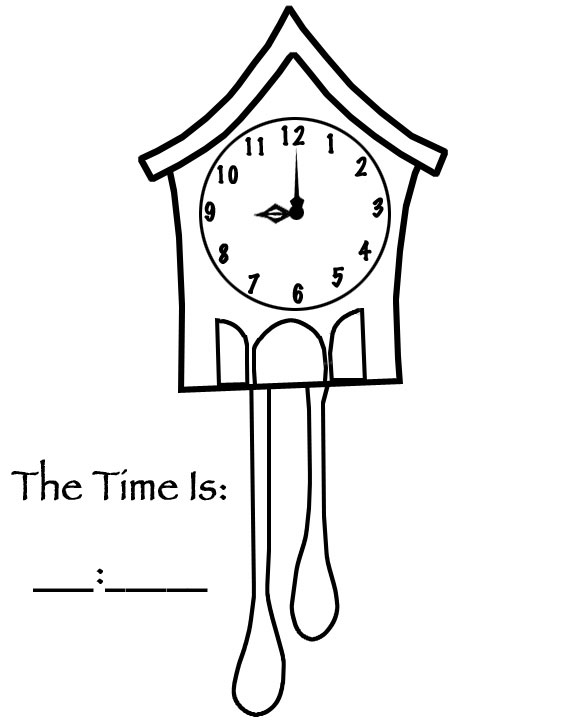 Kids Time Clock Coloring Book Pages And School Activity Resources