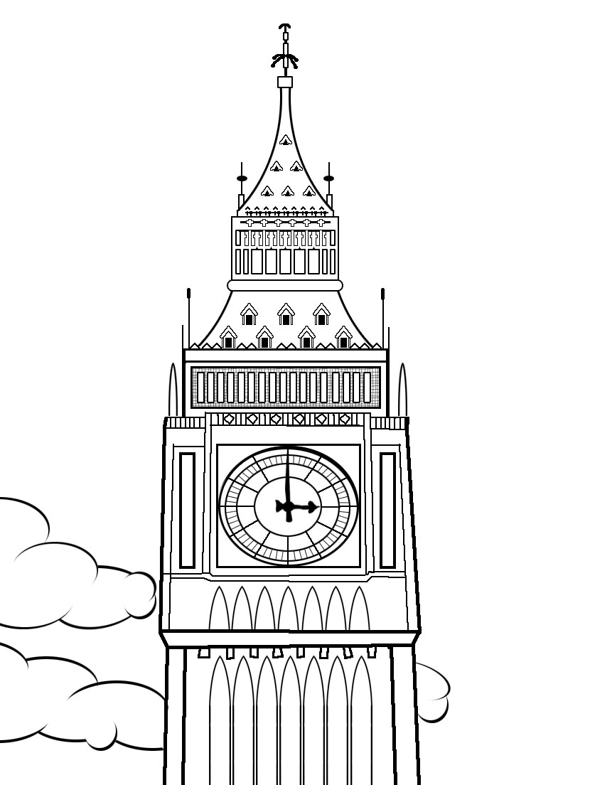 Clock Coloring Pages To Print