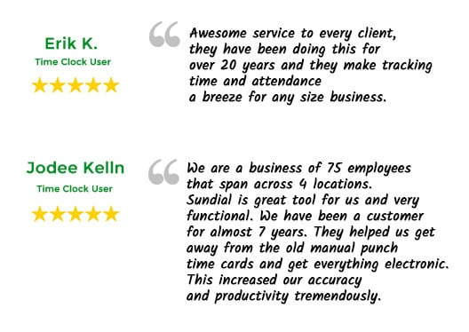 Sundial Timekeeping Reviews